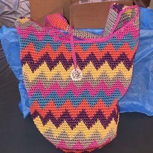 THE SAK CROCHETED HOBO BAG